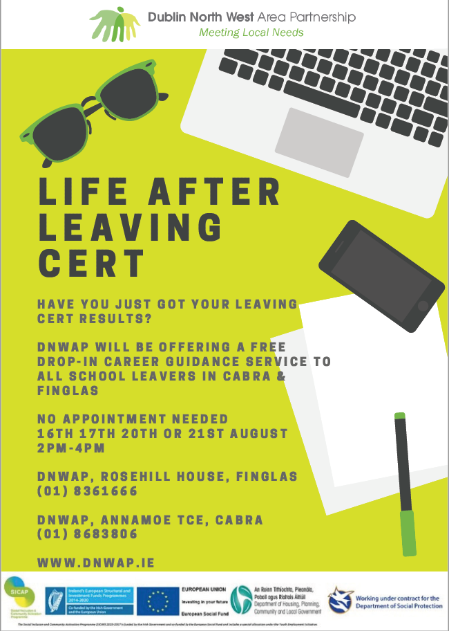 Life After The Leaving Certificate Drop In Career Guidance Service